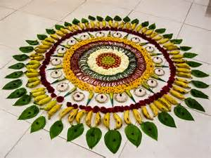 file fruit rangoli pookalam floor tamil nadu india