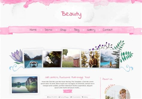 beautiful blog design beauty blogger template blogspot templates 2018