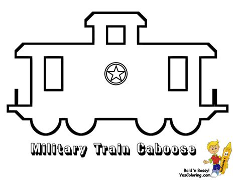 printable train templates ironhorse army train coloring pages yescoloring free