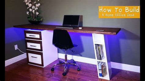 how to build a modern desk for your home office