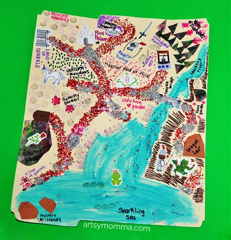 map crafts for make believe map craft artsy momma