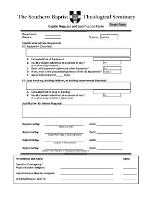 Capital Expenditure Form Fill Online Printable Fillable Blank Pdffiller Capital Expenditure Justification Template