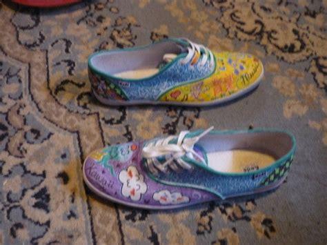 Sandal Wanita Fav Kawai White Fav Shoes kawaii shoes d 183 a pair of painted shoes 183 decorating on cut out keep