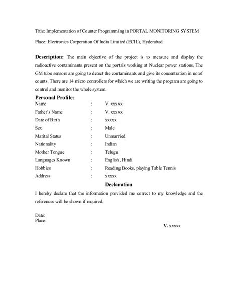 Fresher Resume Sle13 By Babasab Patil by Fresher Resume Sle8 By Babasab Patil
