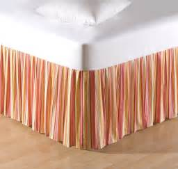 striped bed skirt orange striped or king bed skirt