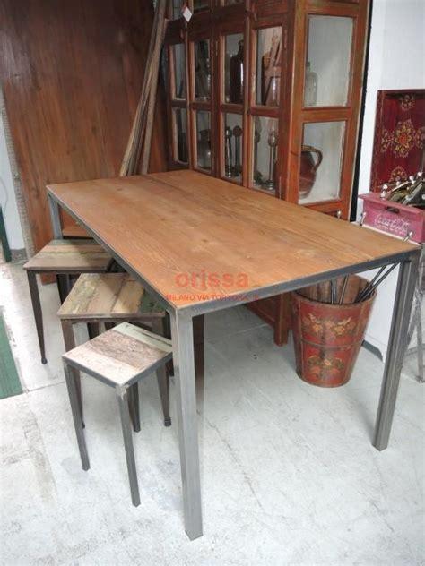 tavoli ferro tavolo piano in teak struttura ferro battuto cole0175