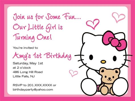 invitation layout hello kitty hello kitty invites template resume builder