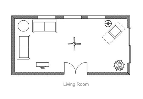 Living Room Floor Plans by Ezblueprint