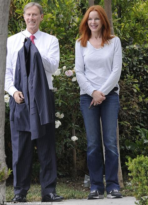 marcia cross tom mahoney wedding marcia cross dotes on husband tom mahoney and welcomes him