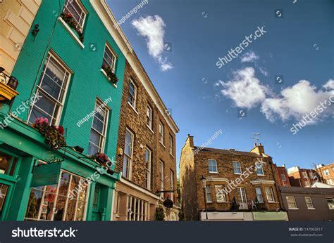 Portobello West by Notting Hill Colorful Houses Portobello West Stock Photo