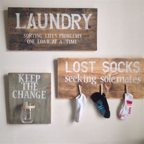 diy lost socks sign laundry room decor rustic hardware so and lost socks