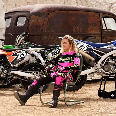 motocross gear womens oneal 2017 mx gear element black hi viz pink