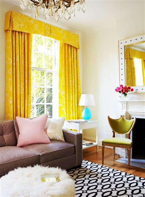 Yellow Valances For Living Room 111 Bright And Colorful Living Room Design Ideas Digsdigs