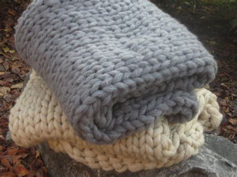 Decke Grobstrick by Chunky Knit Blanket Chunky Knit Mohair Blanket King