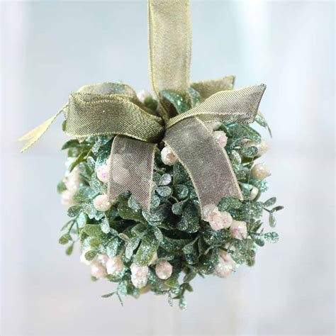 Wedding Shower Favor Bags by Sparkling Artificial Mistletoe Kissing Ball Christmas