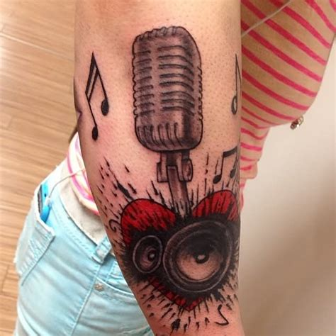 speaker tattoo microphone tattoos askideas