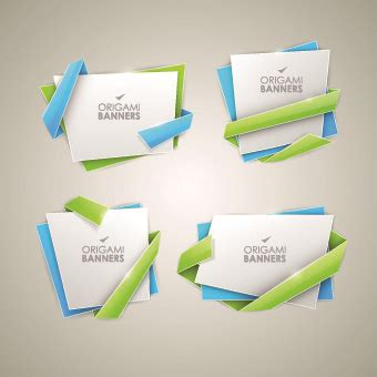 Origami Graphic Design - origami banner book free vector 10 450 free