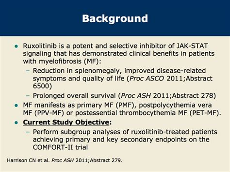 comfort ii trial comfort ii phase iii trial of splenomegaly reduction with