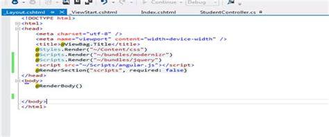 mvc layout page javascript angularjs validation in mvc part one