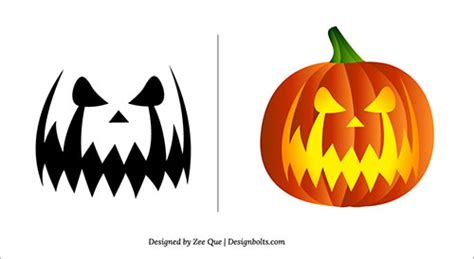 scary pumpkin carving patterns