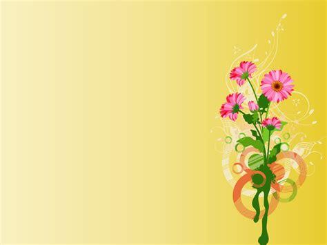pink tulips frame template ppt backgrounds border frames