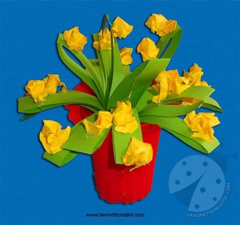 della fiore lavoretti festa della mamma vaso con fiori fiori