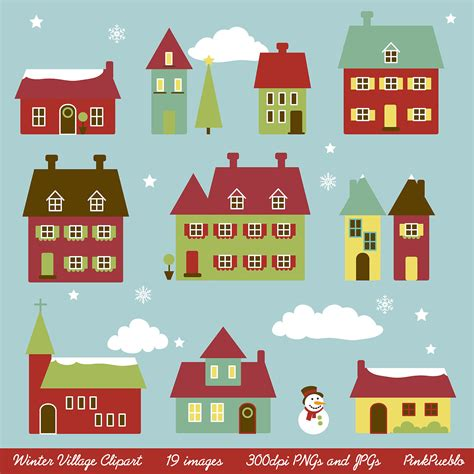 printable christmas village background winter village clip art clipart winter houses clip by