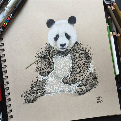 doodle panda panda doodle by vinceokerman on deviantart