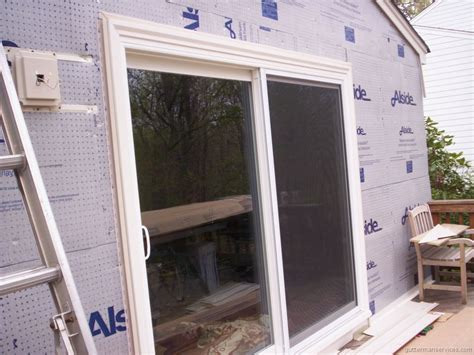 How To Install Sliding Patio Door Ta Door Exterior Door Installation Replacement Doors And New Home Construction