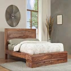 King Size Beds Overstock Sheesham Solid Wood California King Size Panel Bed Free