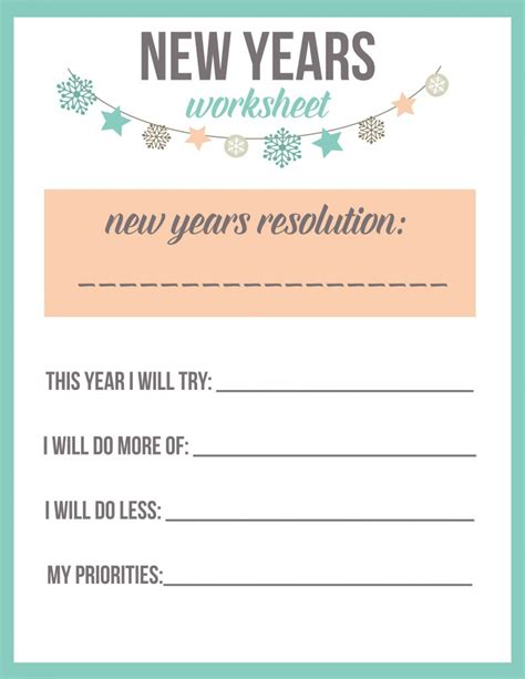 new year printable worksheets 15 new year s ideas for is a lullaby