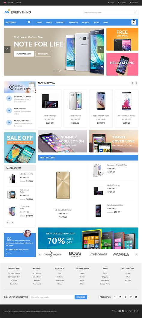 mobile themes magento 10 best responsive magento mobile themes 2017 responsive