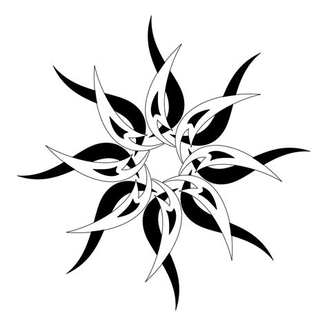 black sun tattoo black white tribal sun design tribal sun t