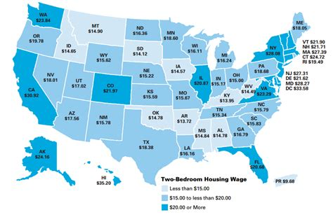 average rent by state average rent per state affordable housing is out of reach