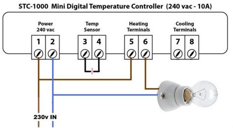 wiring up a light to a thermostat doityourself