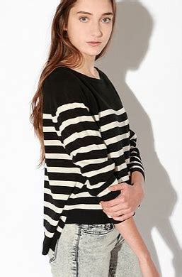 Sweater My Stripe black and white striped sweaters