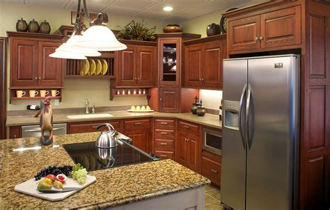 modern kitchen designs  brown wood cabinet decor units