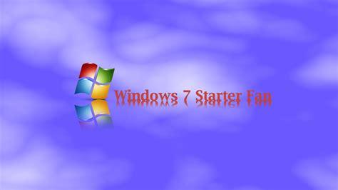 wallpaper en windows 7 starter windows 7 starter fan desktop wallpaper by