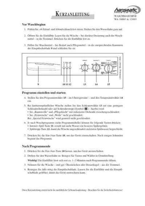 waschmittel für teppiche hanseatic wa 1000 5waschmaschinen pdf anleitung f 195 188 r