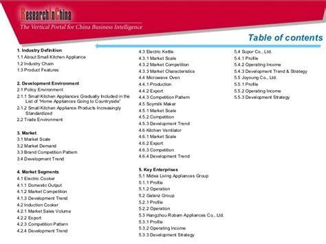 Small Home Appliances Industry China Small Kitchen Appliance Industry Report 2011