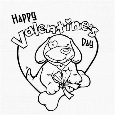 valentines day coloring pages with dogs colours drawing wallpaper happy valentines day colour
