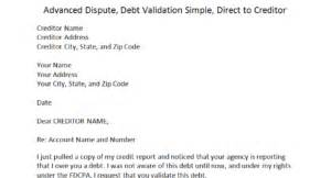 Dispute Validity Of Debt Letter Template Validation Direct To Creditor Dispute Letters That Work