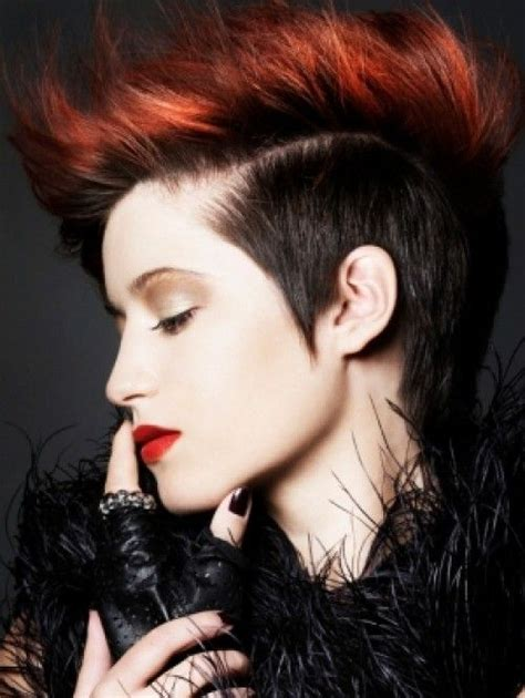 punk hairstyles bangs 429 best images about pour les femmes short hairstyles