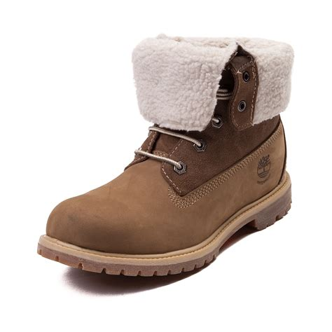 boots womens womens timberland fleece fold boot brown 538479