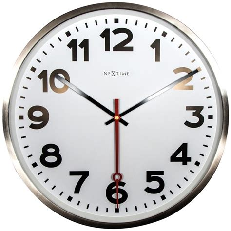 nextime station clock number 55cm wall clock