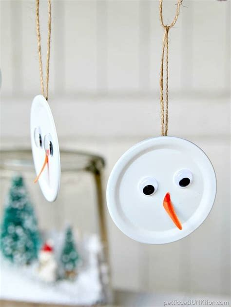 snowman handmade christmas ornament is the tops petticoat