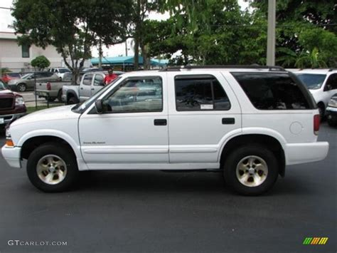 chevrolet trailblazer white summit white 2000 chevrolet blazer trailblazer exterior