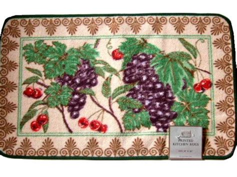 kitchen rugs fruit design grapes cherries fruit themed kitchen rug