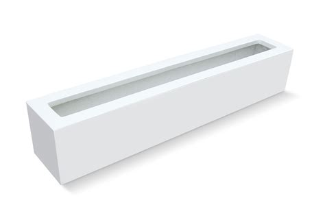 outdoor white rectangular planter box for small patio decor