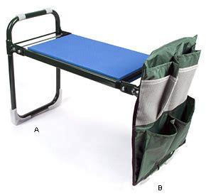 garden weeding bench folding kneeler stool tool holder lee valley tools top